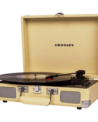 Gramofón v žltej farbe Crosley Cruiser Deluxe