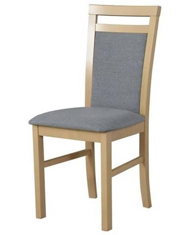 Jedálenská stolička MILAN 5 béžová/sivá