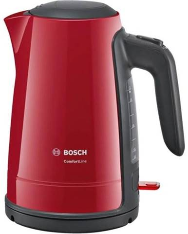 Rýchlovarná kanvica Bosch ComfortLine Twk6a014 čierna/červen