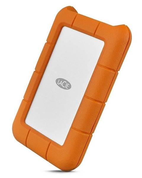 Lacie Externý pevný disk Lacie Rugged 1TB, USB-C oranžový