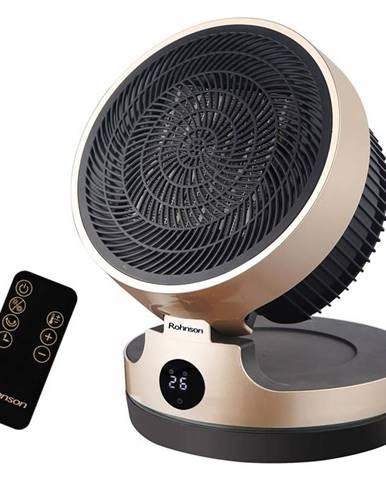 Teplovzdušný ventilátor Rohnson R-8070 čierny/zlat