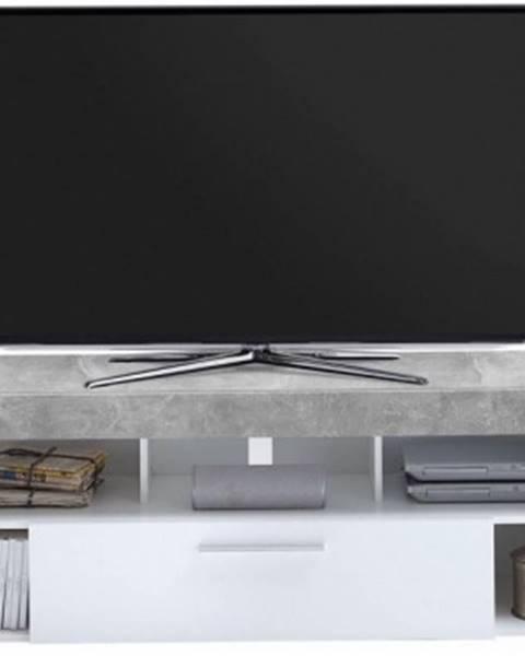 ASKO - NÁBYTOK TV stolek Vibio 1, beton/biela%