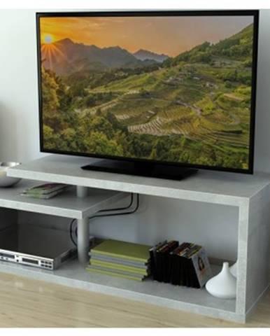 Konferenčný stolík/TV stolík/regál AS-54, šedý beton%