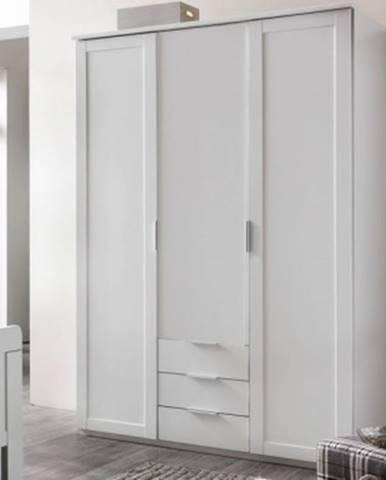 Šatníková skriňa Nadja, 135 cm, biela%