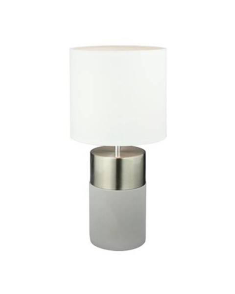 Bellatex Tempo Kondela Stolná lampa, svetlosivá/biela, QENNY TYP 19 LT8371