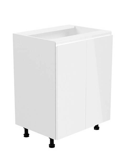 Tempo Kondela Spodná skrinka biela/biela extra vysoký lesk AURORA D602F