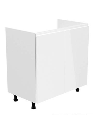 Drezová skrinka biela/biela extra vysoký lesk AURORA D80Z
