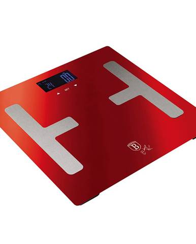 Osobná váha metalická červená Burgundy BERLINGERHAUS BH-9104