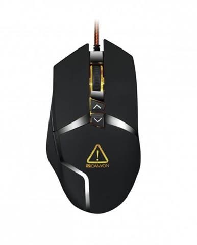 Canyon Tantiva CND-SGM4E hráčska myš, drôtová, optická, čierna + Zdarma podložka Olpran