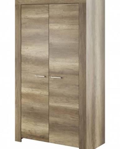 Obývacia skriňa Sky - 2x dvere, ABS