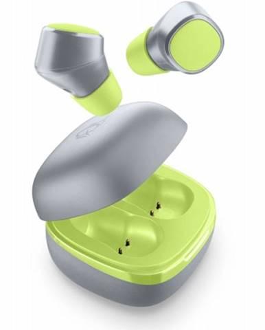 True Wireless slúchadlá Cellularline Evade, limetkové