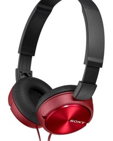 Slúchadlá cez hlavu Sony MDR-ZX310APR, červené