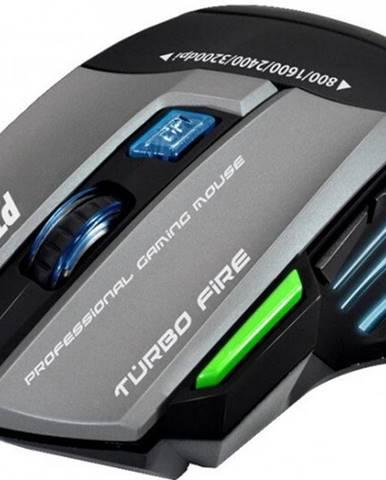 Herná myš EVOLVEO Ptero GMX90, 3200dpi, RGB podsvietenie + Zdarma podložka Olpran