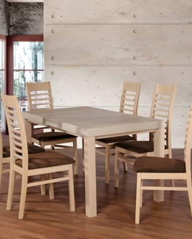 Set 17 - 6x stolička,1x stôl,rozklad