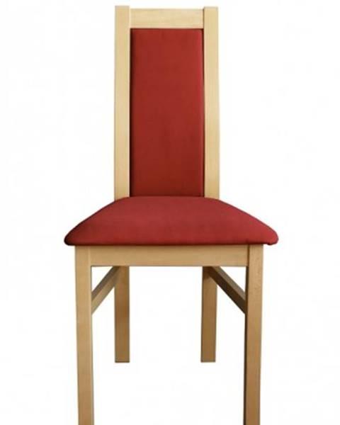 OKAY nábytok Jedálenská stolička Agáta, sonoma, bordó