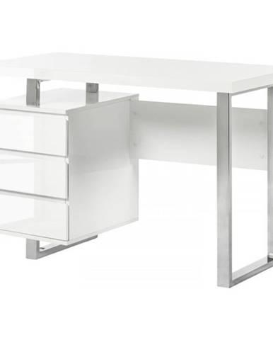 Písací stôl ABADON biela