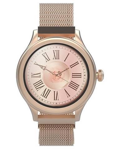 Inteligentné hodinky Forever Icon AW-100 zlaté