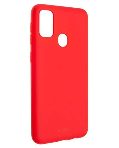Kryt na mobil Fixed Story na Samsung Galaxy M21 červený
