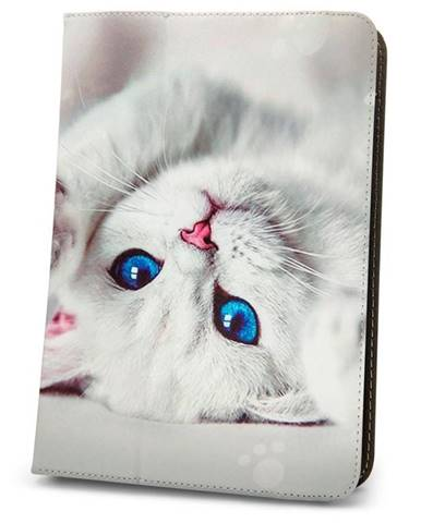 Púzdro na tablet flipové GreenGo Cute Kitty na tablet 7-8""