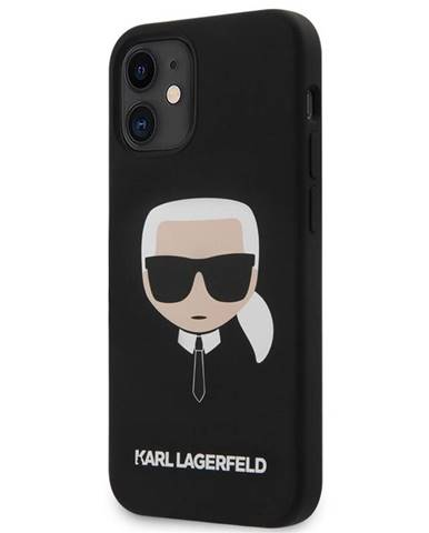 Kryt na mobil Karl Lagerfeld Head na Apple iPhone 12 mini čierny