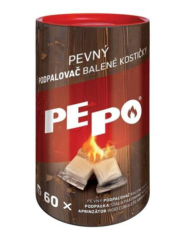 PE-PO Pevný podpaľovač balené kocky, 60 ks