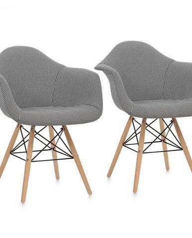OneConcept Visconti, stolička, 2-dielna sada, polstrovaná PP-konštrukcia, čierna farba