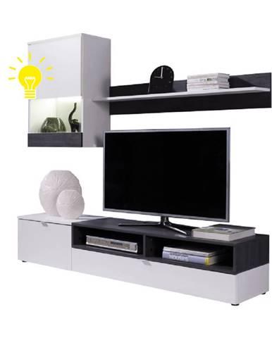 LED osvetlenie ku obývacej stene ROSO