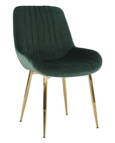 Stolička smaragdovozelená/gold chróm-zlatý PERLOS