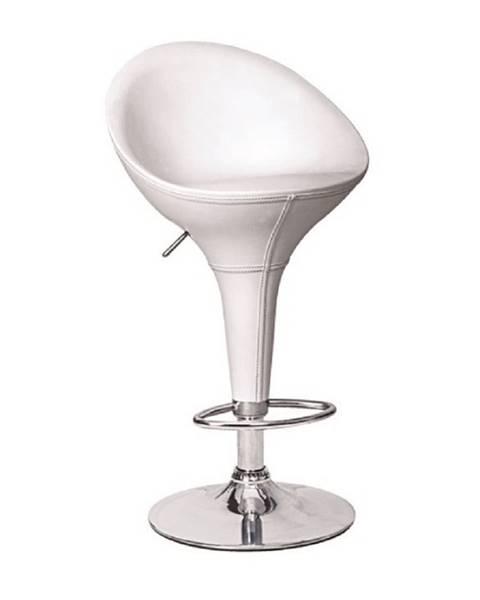 Tempo Kondela Barová stolička ekokoža biela LIZET NEW rozbalený tovar