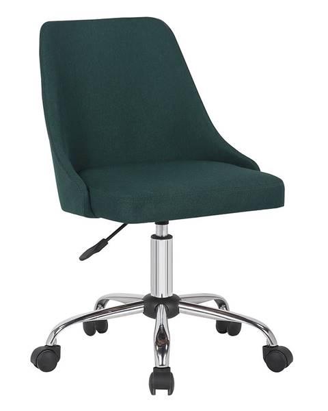 Kondela Kancelárska stolička smaragdová/chróm EDIZ