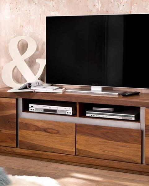 Bighome.sk ROUND TV stolík 180x60 cm, hnedá, palisander