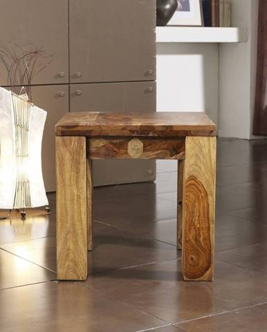 PLAIN SHEESHAM taburetka 45x45 palisander, vintage shiny, lakovaná