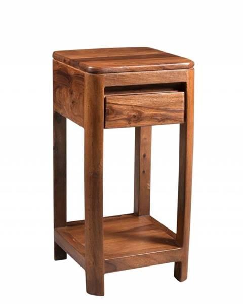 Bighome.sk MONTREAL Príručný stolík 30x30x60 cm, hnedá, palisander