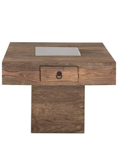 CASTLE Konferenčný stolík so šuplíkom 60x60 cm, palisander