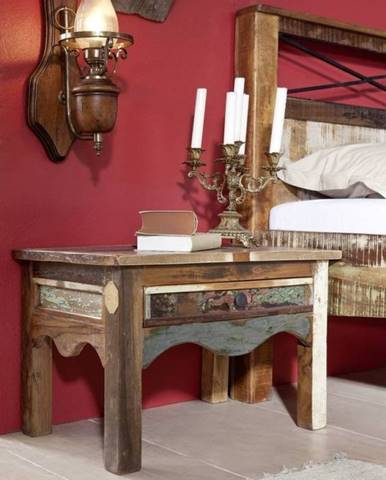 OLDTIME Nočný stolík 60x40 cm, staré drevo