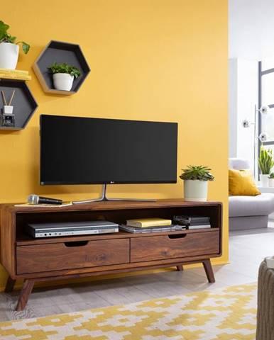 SKANE TV stolík 120x48 cm, palisander, hnedá
