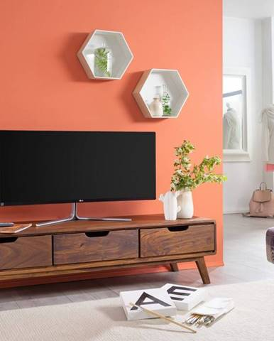 SKANE TV stolík 134x34 cm, palisander, hnedá