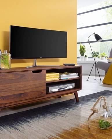 SKANE TV stolík I. 120x48 cm, palisander, hnedá
