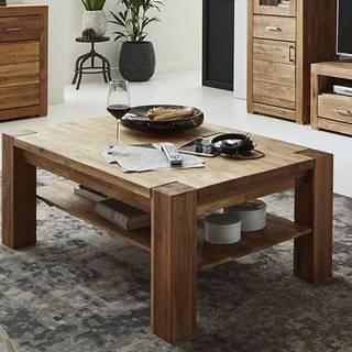 HAMBURG konferenčný stolík, lakovaný prírodný masívny dub