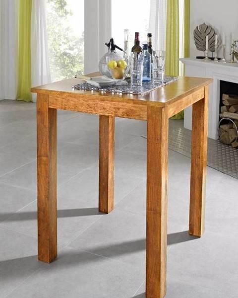 Bighome.sk CAMBRIDGE HONEY Barový stôl 85x85 cm, akácia