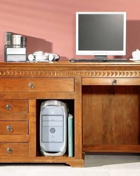 Bighome.sk CAMBRIDGE HONEY Písací stôl 140x64 cm, akácia