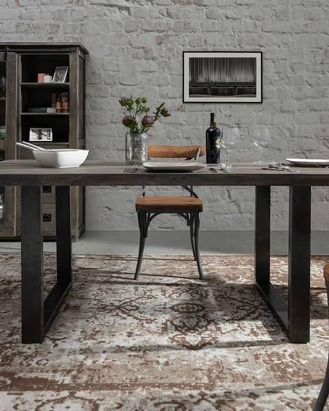 Bighome.sk IRON Jedálenský stôl 180x90 cm, mango, sivá