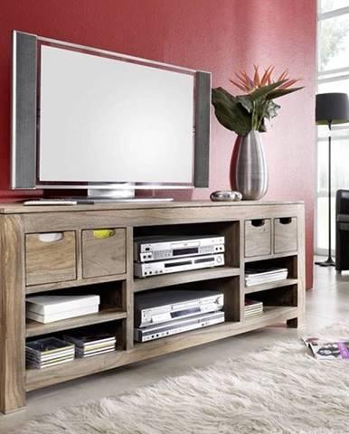 GREY WOOD TV stolík 148x62 cm, palisander