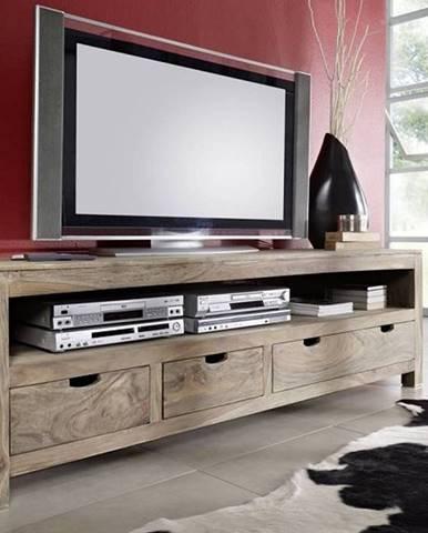 GREY WOOD TV stolík 190x60 cm, palisander
