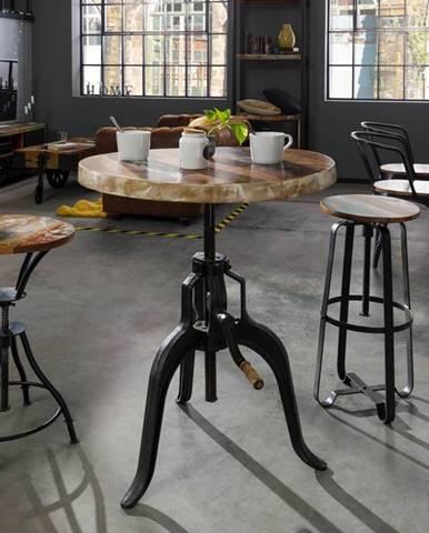 INDUSTRY Príručný stolík 75x75 cm, staré drevo
