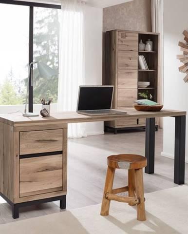 TIROL Písací stôl 150x55 cm, svetlohnedá, dub