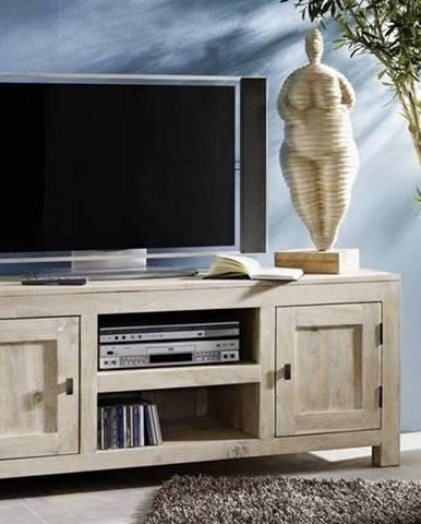 WHITE WOOD TV stolík 145x60 cm, akácia