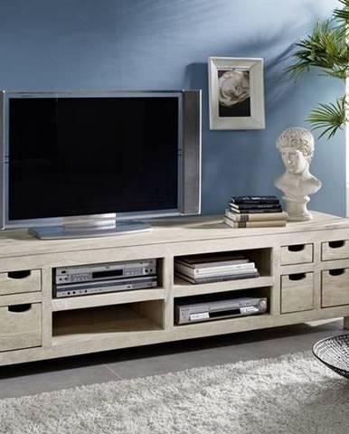WHITE WOOD TV stolík 200x50 cm, akácia