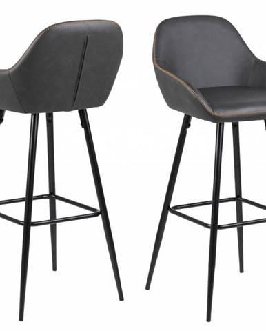 Barová stolička CANDIS, tmavošedá