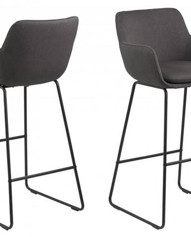 Barová stolička LISA, tmavošedá